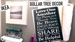 ♥︎ Simple Bathroom Tour ♥︎ Dollar Tree, Ikea, Thrifting