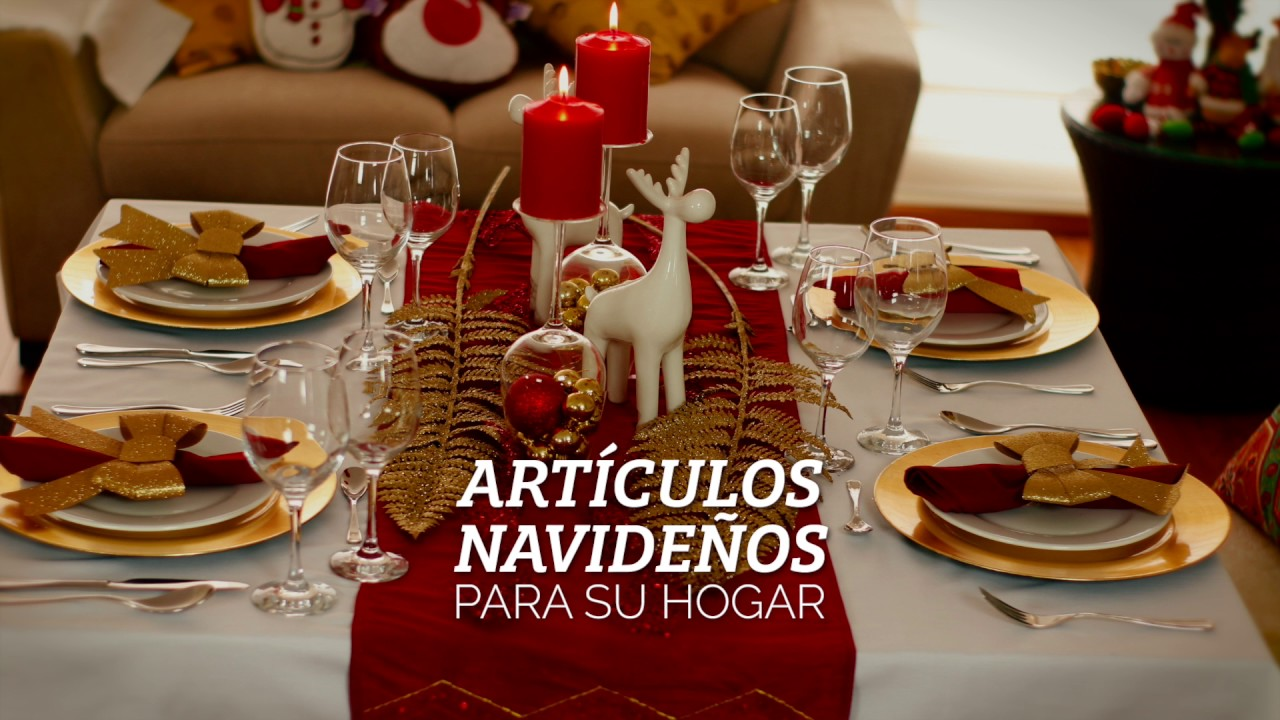 Decoraci n de mesa navide a youtube - Decoracion de mesa navidena ...