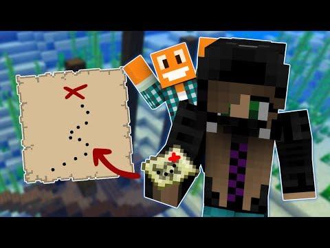 Minecraft AQUA #1  Mapa skarbów! w Akiri