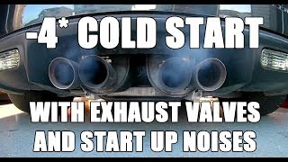 -4* cold start C6 Z06 - LS7 Start up and exhaust valves open and closed thumbnail