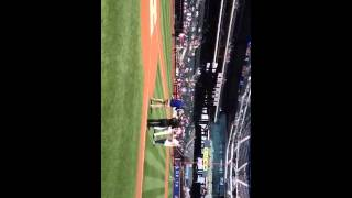 Cousin Sal's 1st pitch at Citi Field 8/18/14