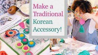 Unique art activity in Seoul - Korean Accessory class with Hanji rice paper