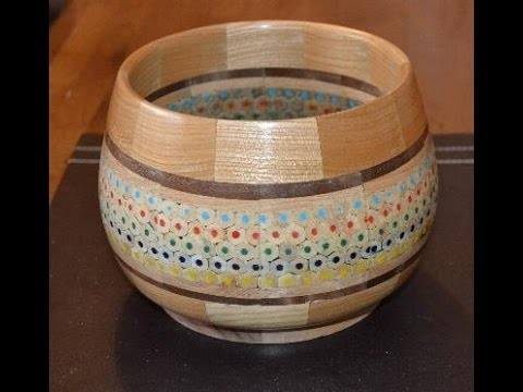 Wodturning at 54a.  #52 A Segmented pencil bowl
