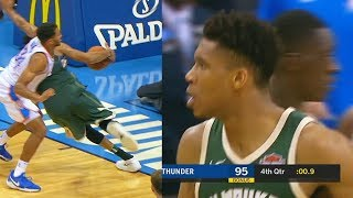Giannis Antetokounmpo Steps Out of Bounds for the Game Winner vs Thunder But Referees Missed It!!!