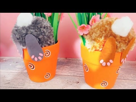 Easy animal Crafts. How to make this beautiful Bunny pen holder