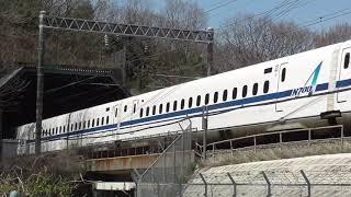 山陽新幹線 長坂トンネル すれ違い