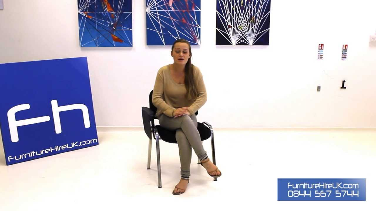 Black Lecture Chair Demo - Furniture Hire UK
