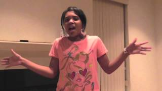 """11 yr/old Jayna covers """"Running Back to You"""" acapella  by Commissioned"""