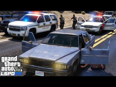 GTA 5 LSPDFR #506 | Blaine County Sheriff Tahoe | Felony Traffic Stop Gone Wrong