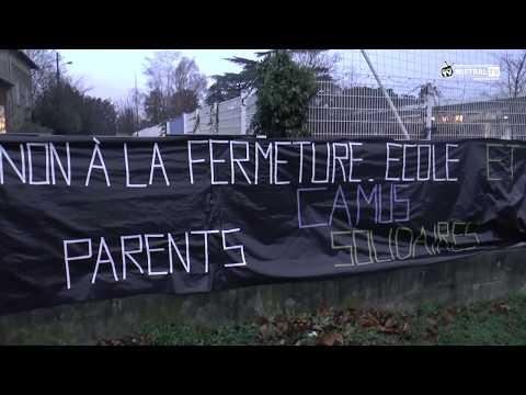 Manifestation école Albert CAMUS  Valence petit Charran   janvier 2019