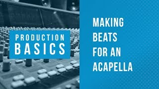 Ableton Live Production Basics 11 | Making Beats for an Acapella Vocal Using Packs Drum Racks