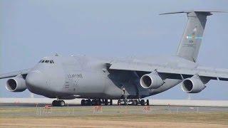北九州空港に全球降水観測衛星を積んだC5ギャラクシー飛来 / USAF C-5M Super Galaxy with GPM at KKJ