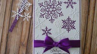Glitter snowflake card