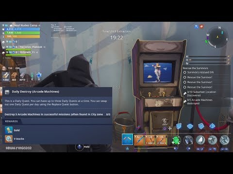 Daily Destroy (Arcade Machines)   Fortnite - Save The World