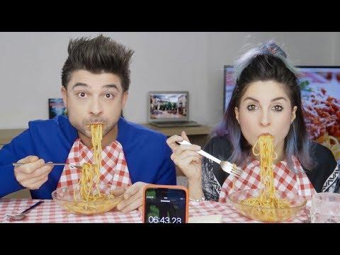 THE SPAGHETTI CHALLENGE [Italian food]
