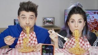 THE SPAGHETTI CHALLENGE [Italian food]