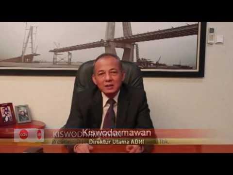 Testimonial President Director PT. Adhi Karya (Persero), Tbk di Corporate Image Award 2014