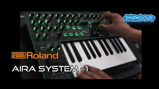 ROLAND AIRA SYSTEM-1 PLUG-OUT SYNTHESIZER jamming by S4K ( Space4Keys Keyboard Solo )