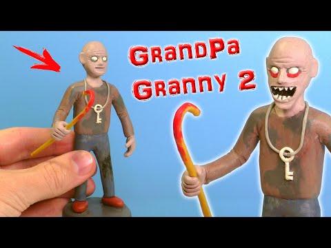 Новый злой ДЕД из игры Гренни 2 - Лепим из пластилина | GRANNY 2