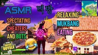 ASMR Gaming | Fortnite Mukbang Eating Delicious Italian Pizza Commentary 먹방 ???????? Relaxing Whispering????????