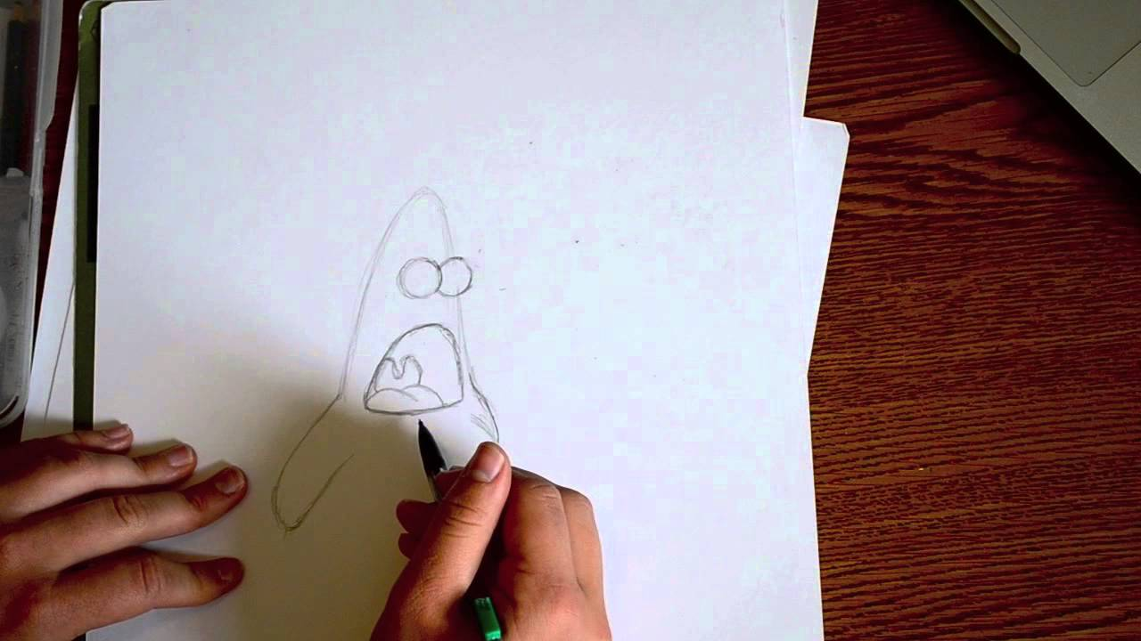 How to Draw PATRICK from Nickelodeon's SpongeBob Squarepants -  @DramaticParrot