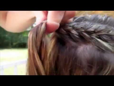 Quick and easy summer hairstyle cornrows