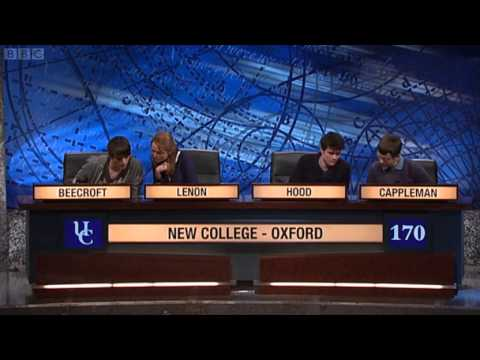 University Challenge S42E13 - New College, Oxford vs Homerton, Cambridge [2/2]