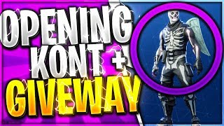 OPENING 3 ACCOUNTS 😂 ACCOUNTS DISTRIBUTES accounts to VIEWERS 40 SKINS 😂 SKELETON DROVE?-Fortnite Battle Royale