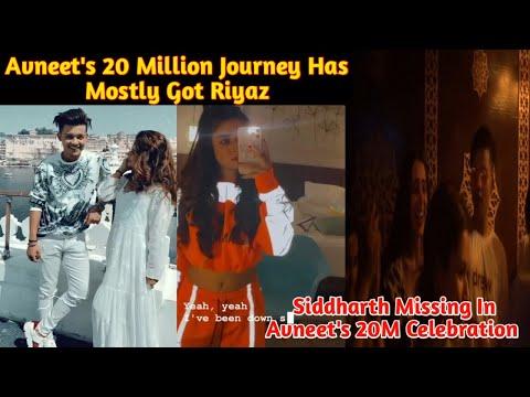 Download Avneet's 20 Million Journey Has Mostly Got Riyaz| Siddharth Missing In Avneet's Celebration|Sidneet|