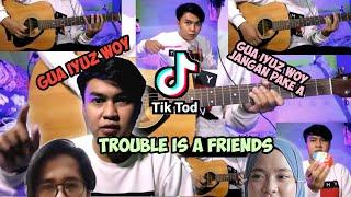 Download lagu TIKTOD TROUBLE IS A FRIENDS KOPLO AKUSTIK | gua iyuz woy bukan ayus