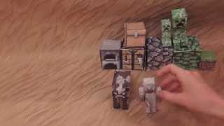 как сделать майнкрафт из бумаги