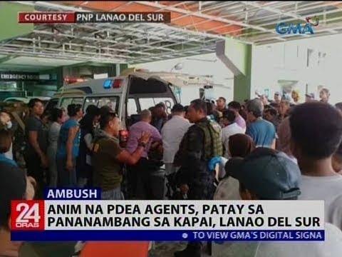 Anim na PDEA agents, patay sa pananambang sa Kapai, Lanao del Sur