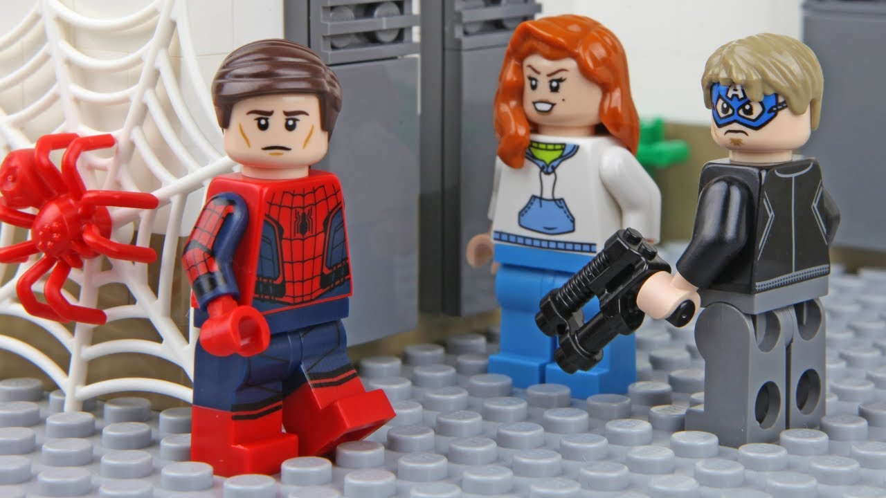 lego spider man bank robbery youtube