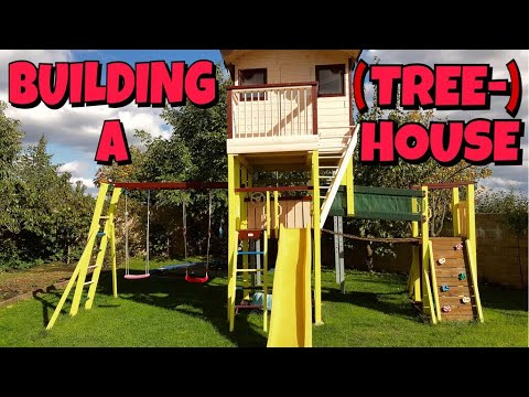 I Am Building A Treehouse (without the tree) For My Kids. Stavím domeček pro děti. 🏚