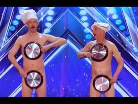 Thumbnail: Literally Men With Pans With A Little Surprise | Week 4 | America's Got Talent 2017