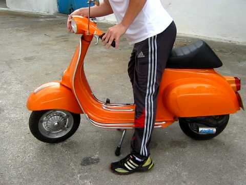 vespa 50n 1975 restored youtube. Black Bedroom Furniture Sets. Home Design Ideas
