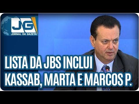 Lista da JBS inclui Marta, Kassab e Marcos Pereira