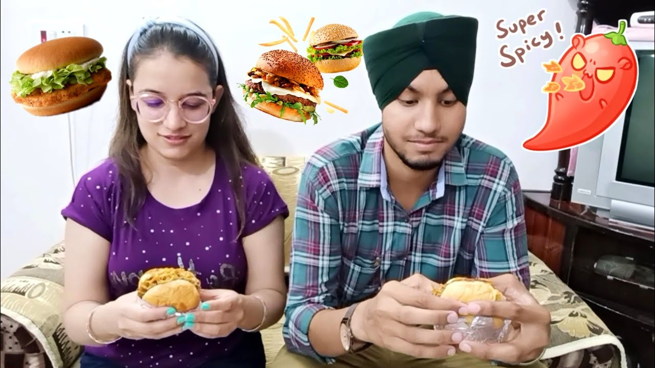 [Vlog] Whoever loses will get a slap 👋 Burger Challenge