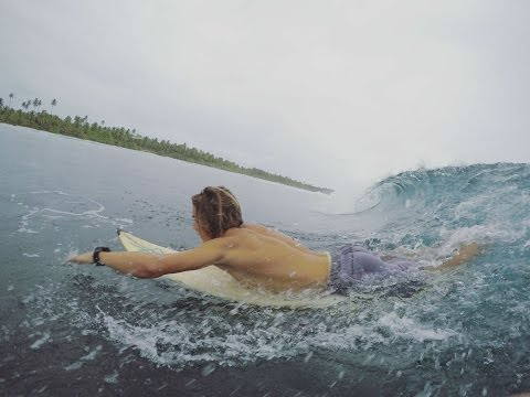 Surfing on Cocos Islands