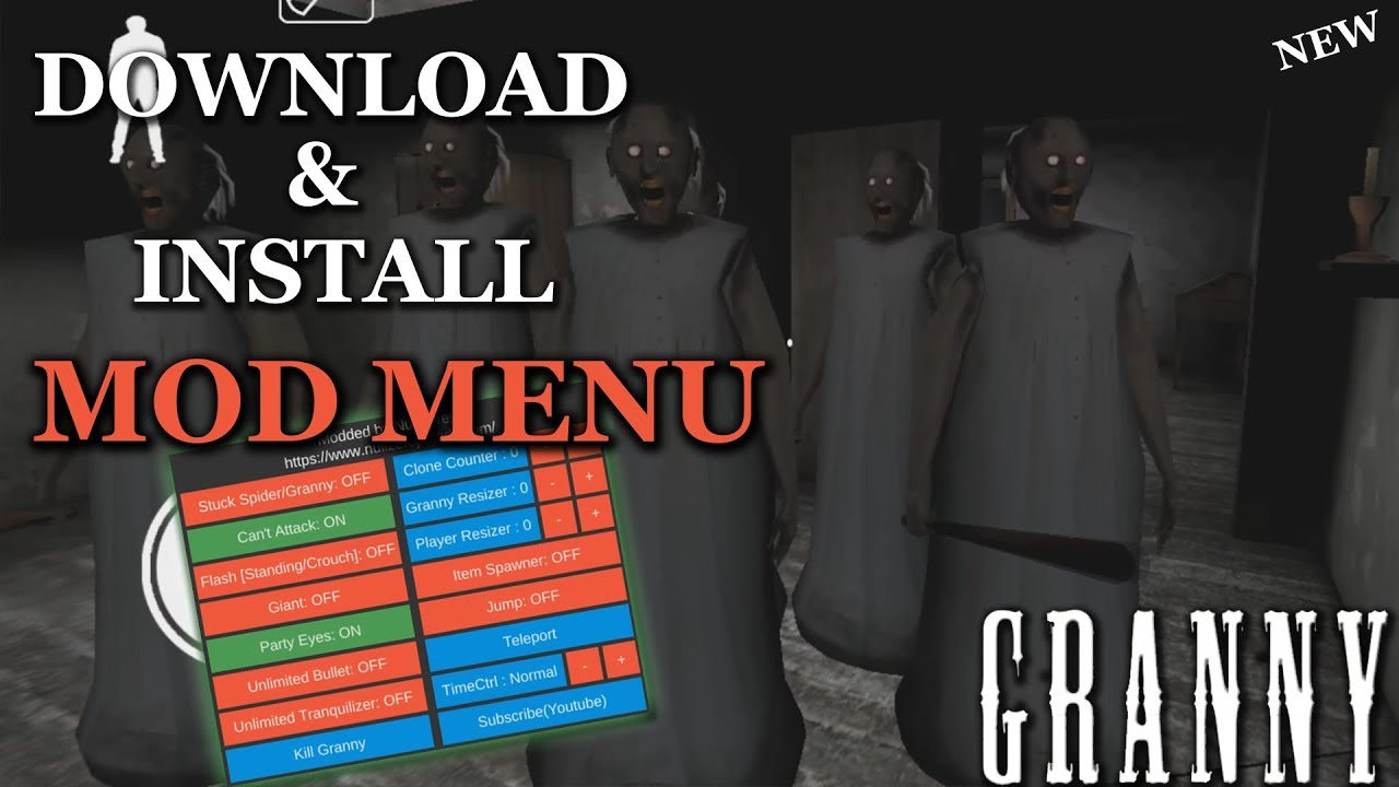 Granny: *NEW* How to Download & Install Mod Menu Modded apk | 2018 Update 1.5 [FREE] Android  #Smartphone #Android