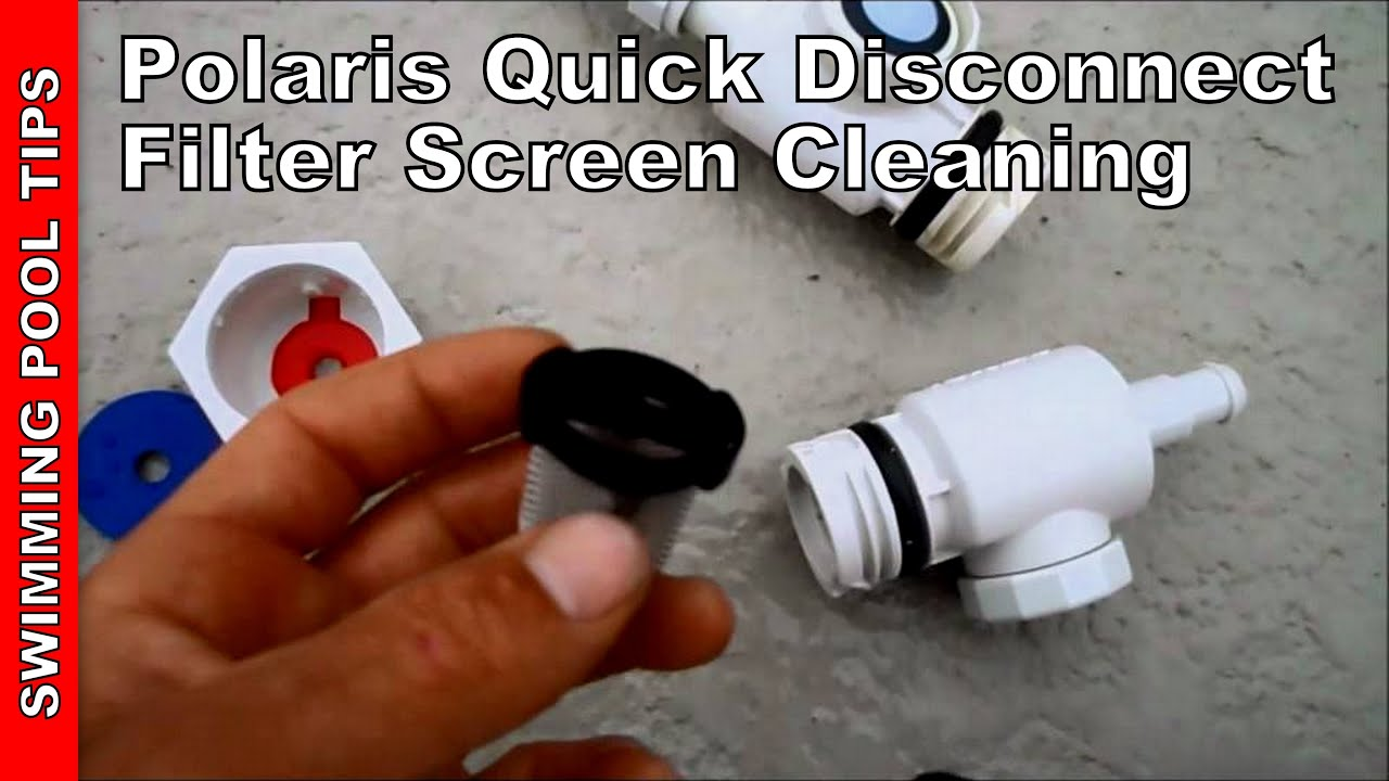Polaris Quick Disconnect, Filter screen cleaning - YouTube