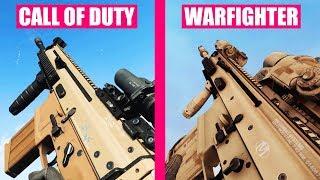 Call of Duty Modern Warfare Gun Sounds vs Medal of Honor Warfighter