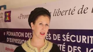 Formation des forces de sécurité sur la liberté d'expression et la sécurité des journalistes au Mali