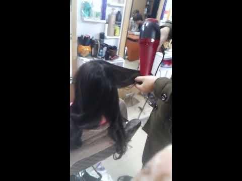 Sấy lọn cho tóc xoăn bằng tay