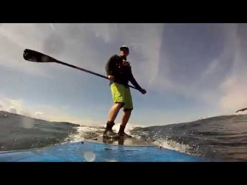 Freighter Wave Paddle Board Surfing in Seattle - 3/14/14