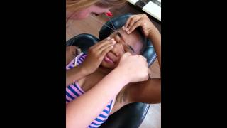 First time eyebrow threading-painful
