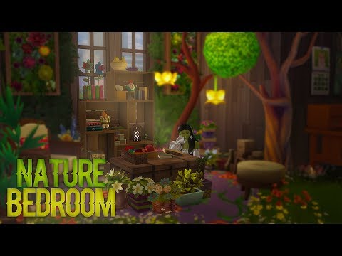 Sims 4:build Nature Themed Bedroom Cc