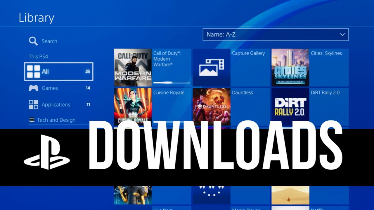 How To Check Downloads On Ps4 Playstation Download Queue Youtube