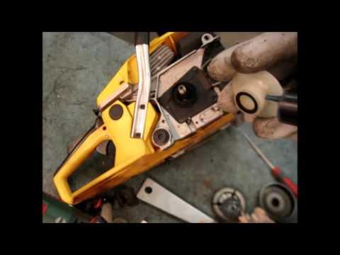 Маленькие хитрости китайской бензопилы, ЗАМЕНА ЗВЁЗДОЧКИ.How to replace star Chinese chainsaw/