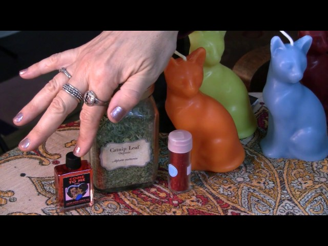 Lucky Love Cat Candle Spell - Hoodoo How To with Madame Pamita